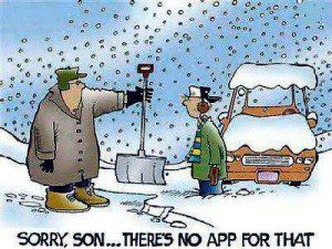 snowblower cartoon