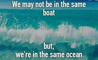 Not in the same boat